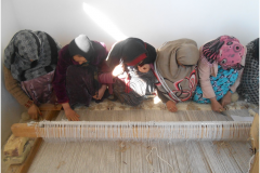 Carpet Weaving Project beneficiaries during work 4