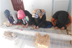 Carpet Weaving Project beneficiaries during work 5