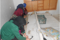 Carpet Weaving Project beneficiaries during work 6
