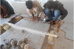 Carpet Weaving Project beneficiaries during work male 2